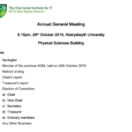AGM 2019 and Talks on AI